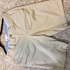 Banana Republic khaki Bermuda length shorts, Sz 6